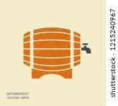wooden barrel of beer... | Shutterstock .eps vector #1215240967