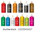 gas tank cylinder set isolated... | Shutterstock .eps vector #1215241417