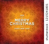 christmas and new year. vector... | Shutterstock .eps vector #1215241801