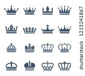 black crowns. symbols for... | Shutterstock . vector #1215241867