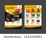 2 sides flyer template for... | Shutterstock .eps vector #1215243091