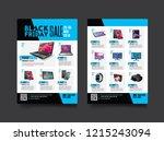 2 sides flyer template for... | Shutterstock .eps vector #1215243094