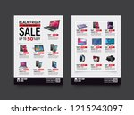2 sides flyer template for... | Shutterstock .eps vector #1215243097