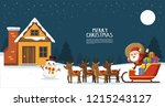 merry christmas and happy new... | Shutterstock .eps vector #1215243127