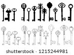 white background  set of black... | Shutterstock .eps vector #1215244981