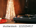 christmas picture. the rotating ... | Shutterstock . vector #1215254917