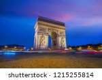 arc de triomphe located in... | Shutterstock . vector #1215255814
