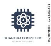 quantum computing icon. trendy... | Shutterstock .eps vector #1215261691