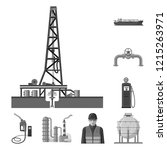 isolated object of oil and gas... | Shutterstock .eps vector #1215263971