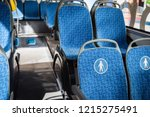 modern city bus with seats for... | Shutterstock . vector #1215275491