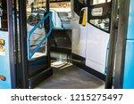 entrance open doors to a modern ... | Shutterstock . vector #1215275497