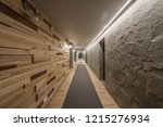 long hallway and ceiling in... | Shutterstock . vector #1215276934