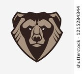 bear mascot vector art. frontal ... | Shutterstock .eps vector #1215284344