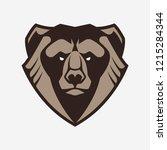 bear mascot vector art. frontal ... | Shutterstock .eps vector #1215284344