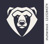 bear mascot vector art. frontal ...   Shutterstock .eps vector #1215284374