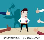 proud businessman with many...   Shutterstock .eps vector #1215286924