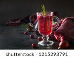 christmas cranberry and apple... | Shutterstock . vector #1215293791