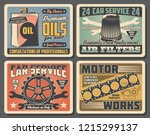 auto spare parts  car service ... | Shutterstock .eps vector #1215299137