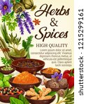 spices  condiments and... | Shutterstock .eps vector #1215299161