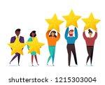 successful work. best estimate... | Shutterstock .eps vector #1215303004