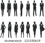 silhouette for business people | Shutterstock . vector #121530619