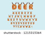 alphabet cartoon design  deer... | Shutterstock .eps vector #1215315364