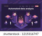 modern flat design isometric... | Shutterstock .eps vector #1215316747