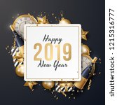 happy new year background... | Shutterstock .eps vector #1215316777