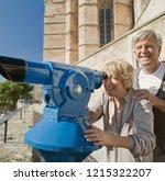 senior couple sightseeing city...   Shutterstock . vector #1215322207