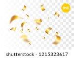random falling golden glitter... | Shutterstock .eps vector #1215323617