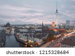 berlin city skyline in the... | Shutterstock . vector #1215328684