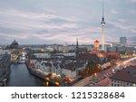 berlin city skyline in the... | Shutterstock . vector #1215328684
