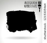 black brush stroke and...   Shutterstock .eps vector #1215335464