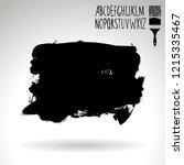 black brush stroke and...   Shutterstock .eps vector #1215335467
