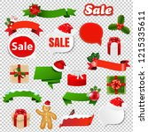 christmas set transparent... | Shutterstock .eps vector #1215335611