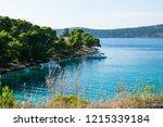 beautiful calm natural bay... | Shutterstock . vector #1215339184