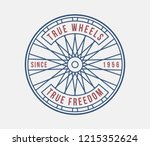 bicycles true wheels is about... | Shutterstock .eps vector #1215352624