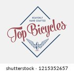 bicycles top crafted is about...   Shutterstock .eps vector #1215352657