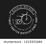 bicycles fine crafted white on... | Shutterstock .eps vector #1215352684