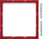 christmas frame design | Shutterstock .eps vector #1215355411