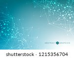 structure molecule and... | Shutterstock .eps vector #1215356704