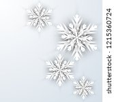 christmas background with paper ... | Shutterstock .eps vector #1215360724
