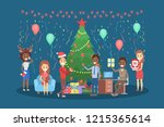 people have fun on the office... | Shutterstock .eps vector #1215365614