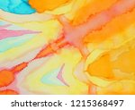 colorful blue watercolor wet...   Shutterstock . vector #1215368497
