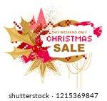 christmas sale banner in... | Shutterstock .eps vector #1215369847
