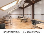 attic office open space with... | Shutterstock . vector #1215369937