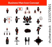 business man icon concept... | Shutterstock .eps vector #1215370801
