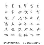 big set of sport games.... | Shutterstock .eps vector #1215383047
