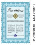 light blue formal invitation... | Shutterstock .eps vector #1215390547