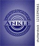 ankle emblem with denim high... | Shutterstock .eps vector #1215390661